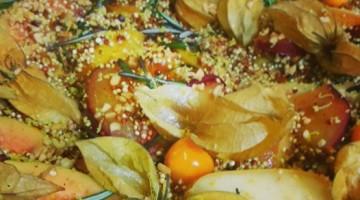 Paella de Quinoa com frutas