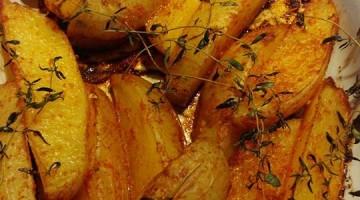 Batatas assadas com páprica apresentação
