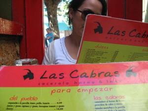 Las Cabras menu