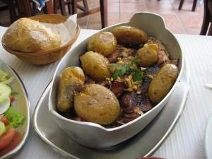 Lulas com batatas ao murro