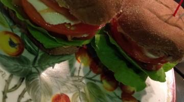 Mini sanduba de pão australiano com queijo fresco e salmão marinado II