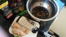 Molho de shoyu com gengibre e mel